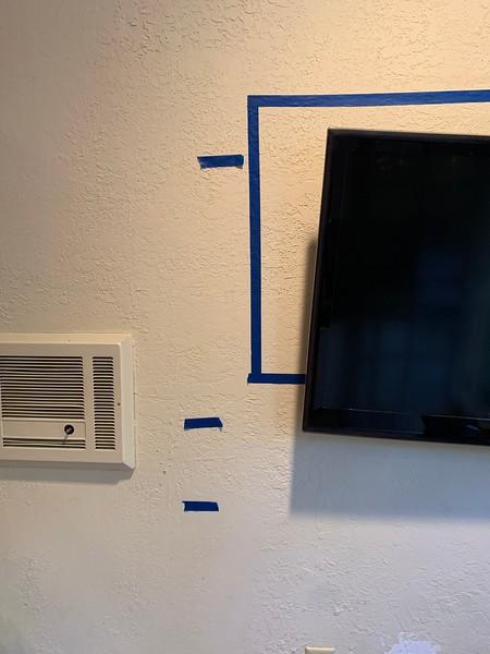 2020.06.13 Pool Room TV mounting