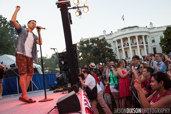 Fun performing at the White House