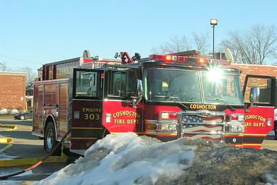 03-07-10 Coshocton FD Garage Fire