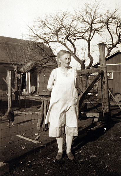 Grandma Rutkowske feeding the Chickens.JPG