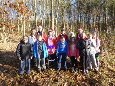 Scouts Christmas Santa Hike - December 2014