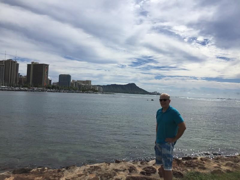 Ala Moana Beach Park with Diamond Head in the background