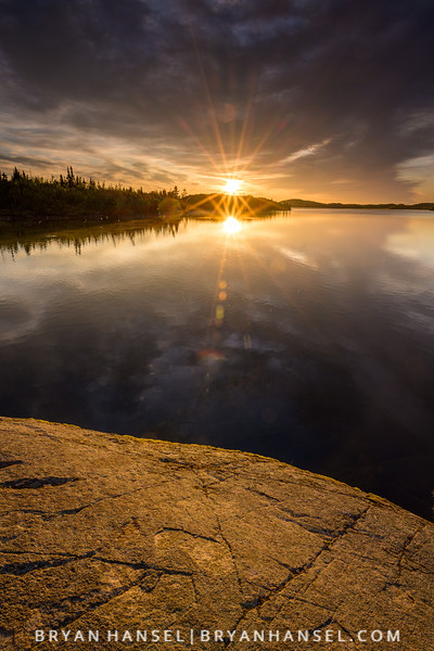 Double Sunburst Reflecting in Sea Gull Lake