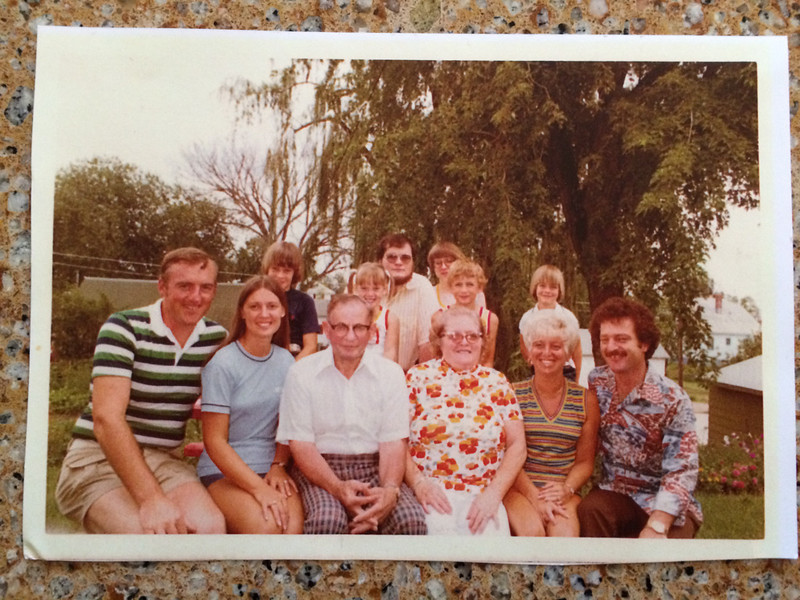 Fuhrman family photo from about 1975.