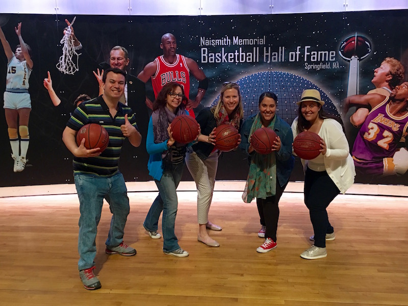 the Naismith Memorial Basketball Hall of Fame in Springfield, Massachusetts