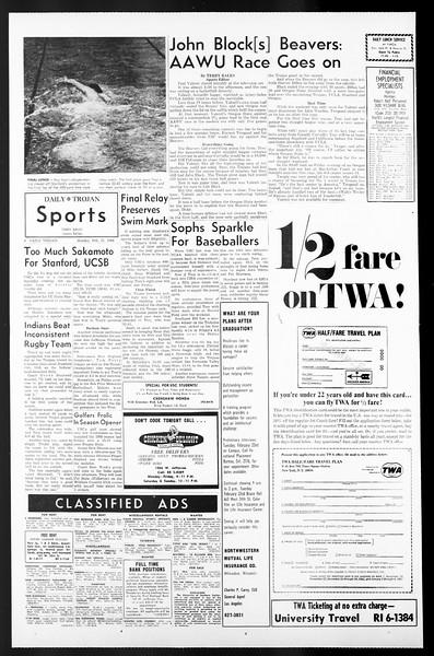 Daily Trojan, Vol. 57, No. 72, February 21, 1966