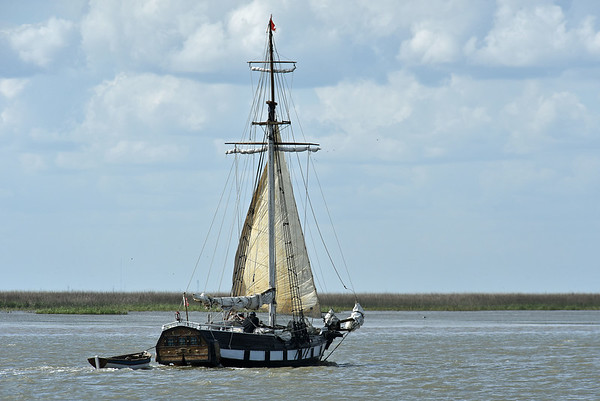 Interesting Sailboat in Jekyll Creek 03-10-19