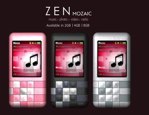 Creative Zen Mozaic Launches in Singapore