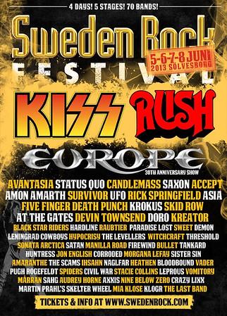 MORGANA LEFAY - Sweden Rock Festival 6/6 2013
