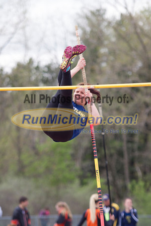 Girl's Pole Vault - 2014 MHSAA Region 7-1 (Milford)
