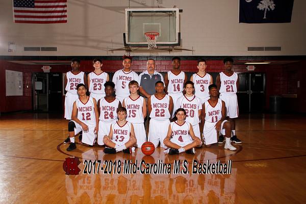 2017-2018 Boys MS Baketball
