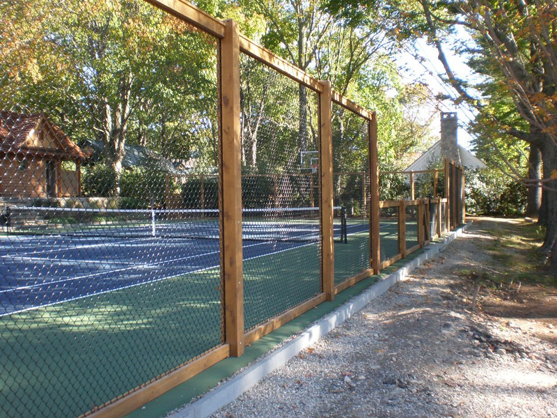 190 - Westport CT - Custom Tennis Court Fence