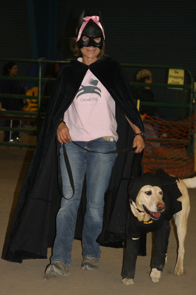 Group Costume: Batdog, the Riddler, the batdogmobile, all the little batdoglets, and more!