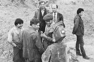 Прокладывание трубопровода по дну Волги. герой соц труда Символоков сентябрь 1987г