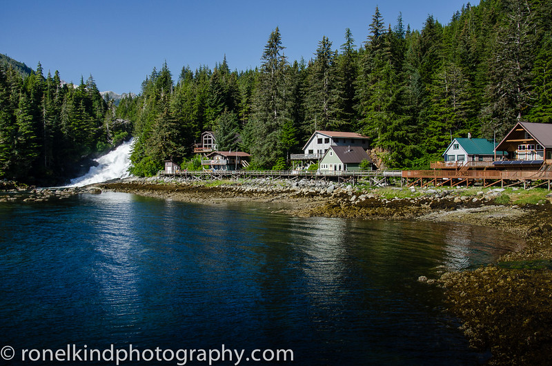 Pavlof Cove Waterfall and Fish Ladder