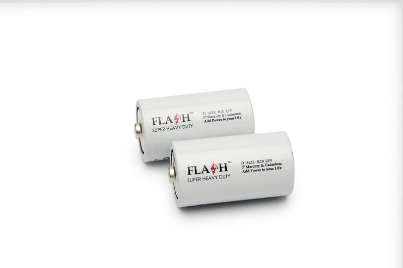 Flash Super Heavy duty D batteries