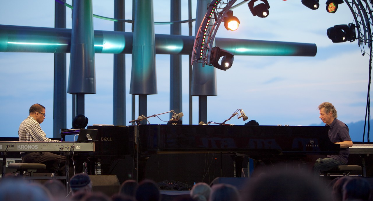 Herbie Hancock and Chick Corea at Jazz à Juan 2015 6