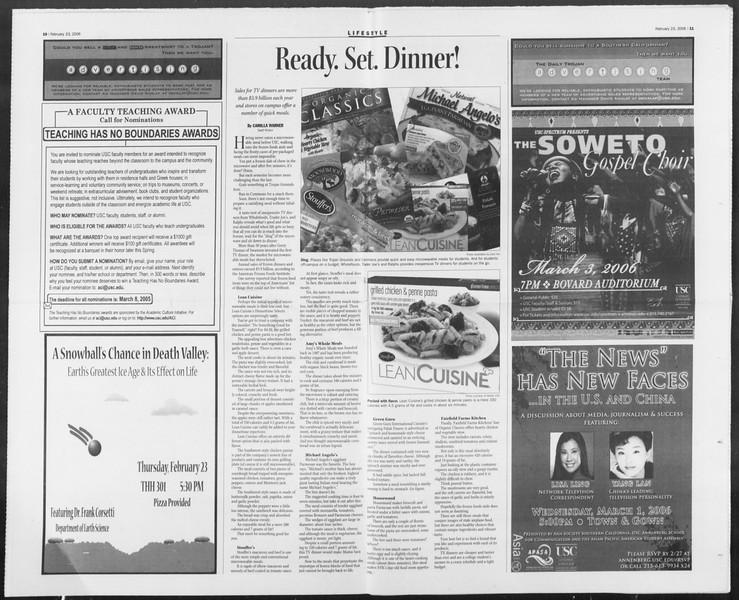 Daily Trojan, Vol. 157, No. 29, February 23, 2006