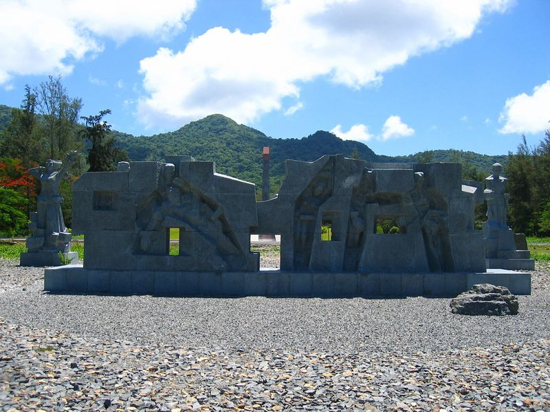 monument to the 20,000+ prisoners who died on con dao island between the french and then the american occupation