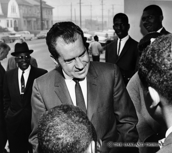 . Oakland, CA October 21, 1962 - Richard Nixon campaigns at Taylor Memorial Methodist Church. (Roy H. Williams / Oakland Tribune Staff Archives)