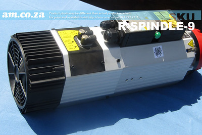 SKU: R-SPINDLE-9, 9kW Air Cooled ISO30 ATC Tool Change Spindle (Short Nose)