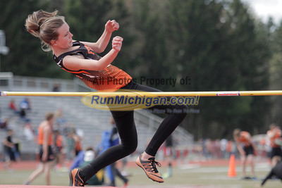Girl's High Jump - 2014 MHSAA Region 7-1 (Milford)