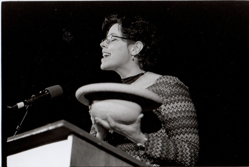 Beth Kelly Gillogly. Staff poet reading. 2001.