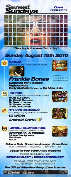 Sweet Sundays @ Cabana Club-Hollywood 8.15.10
