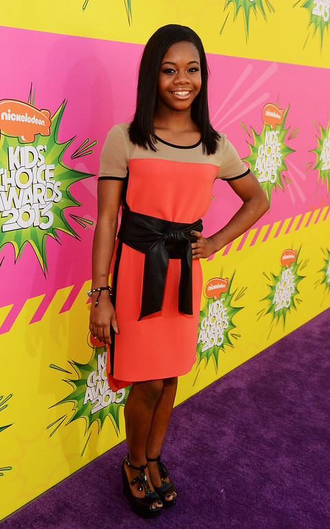 . LOS ANGELES, CA - MARCH 23:  Gymnast Gabby Douglas arrives at Nickelodeon\'s 26th Annual Kids\' Choice Awards at USC Galen Center on March 23, 2013 in Los Angeles, California.  (Photo by Mark Davis/Getty Images for KCA)