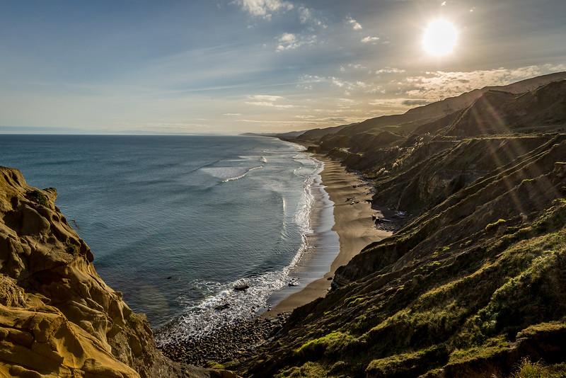 Blick in der Nähe von Waikokopu der Küste entlang Richtung Napier