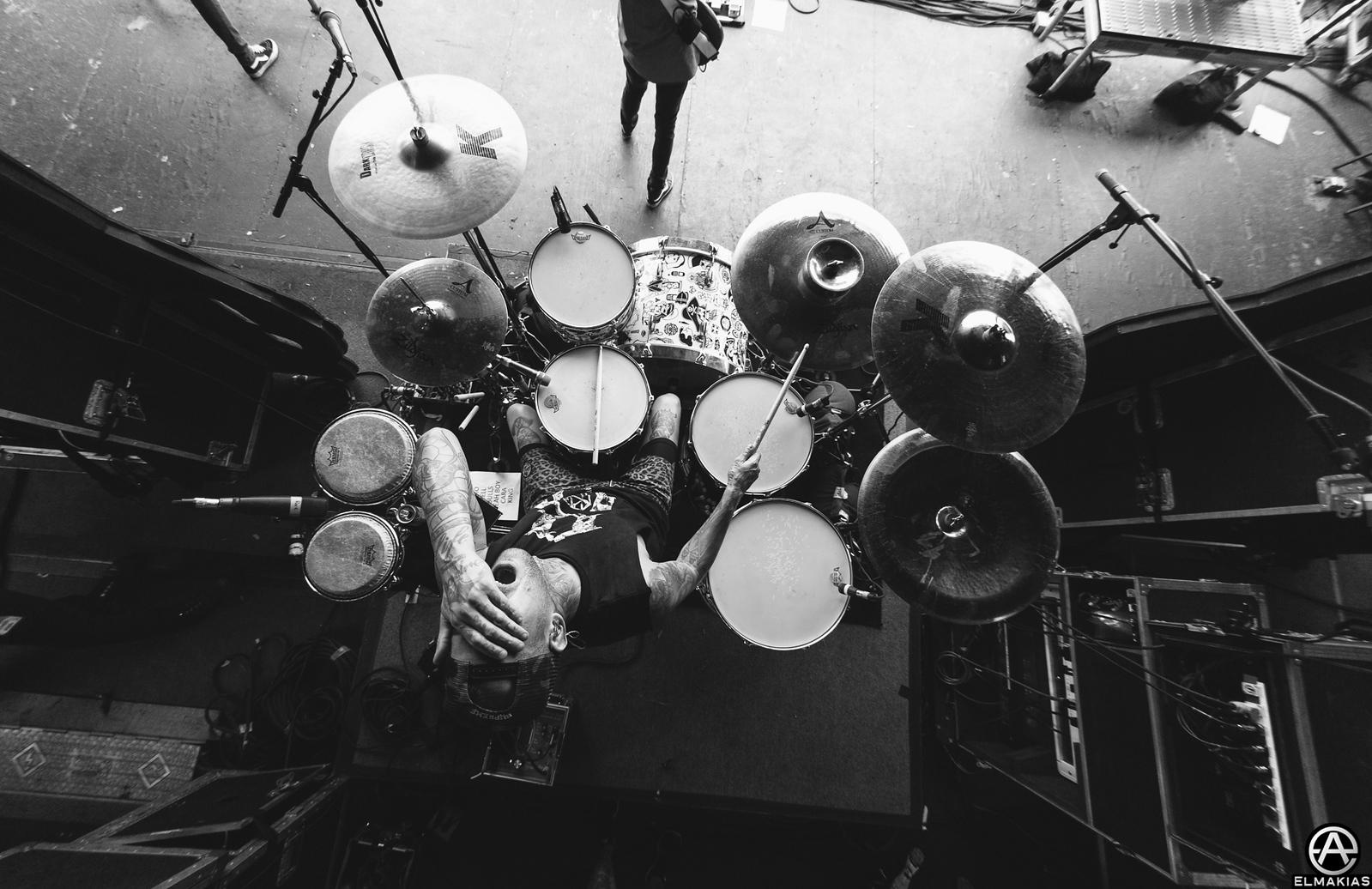 Mike Fuentes of Pierce the Veil live at Warped Tour 2015 by Adam Elmakias