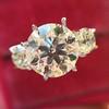 Old European Cut Diamond 3-Stone Trellis Setting, by Steven Kirsch 8
