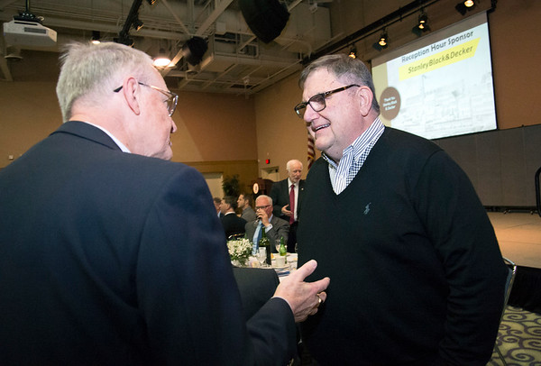 11/21/19 Wesley Bunnell | StaffrrThe Greater New Britain Chamber of Commerce celebrated their 106th year with their annual dinner on Friday night at CCSU. Central CT Communications Publisher Michael Schroeder, R.