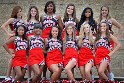 2011 Butler High School JV Football Cheerleader Team Pictures