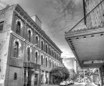 For Sale Black and White Endangered Buildings
