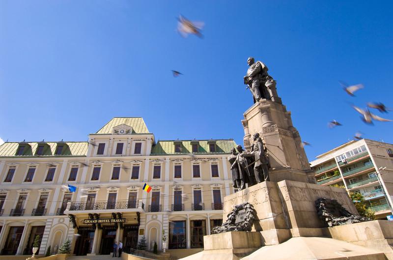 Hotel Traian and Piata Unirii, Iasi, Moldavia, Romania