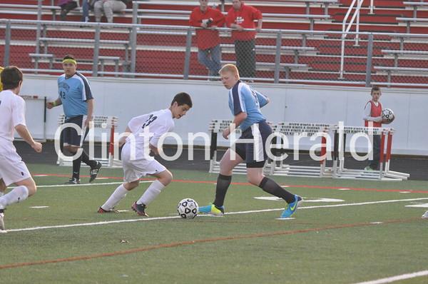 Northeast at Clinton boys soccer (4-11-14)