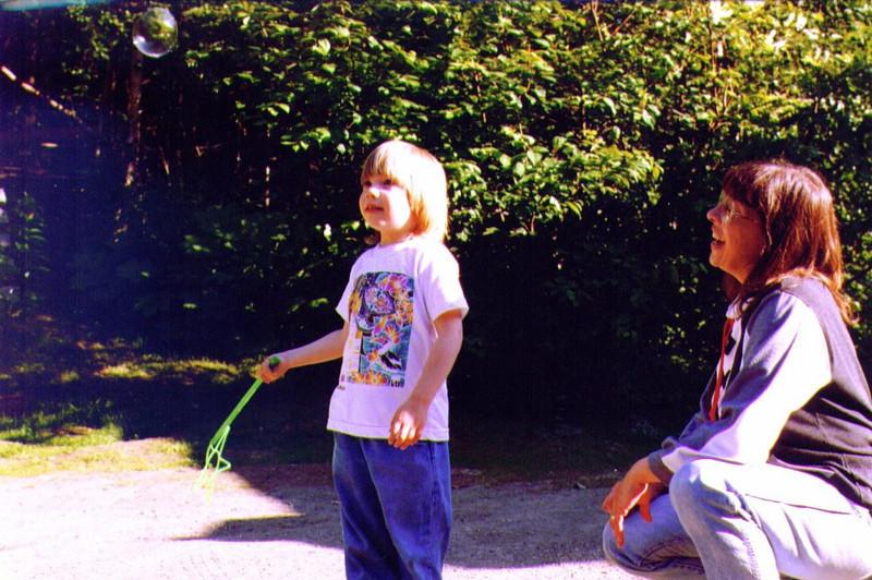 Alina & Connie, Making Bubbles, 1997, #2 .jpg