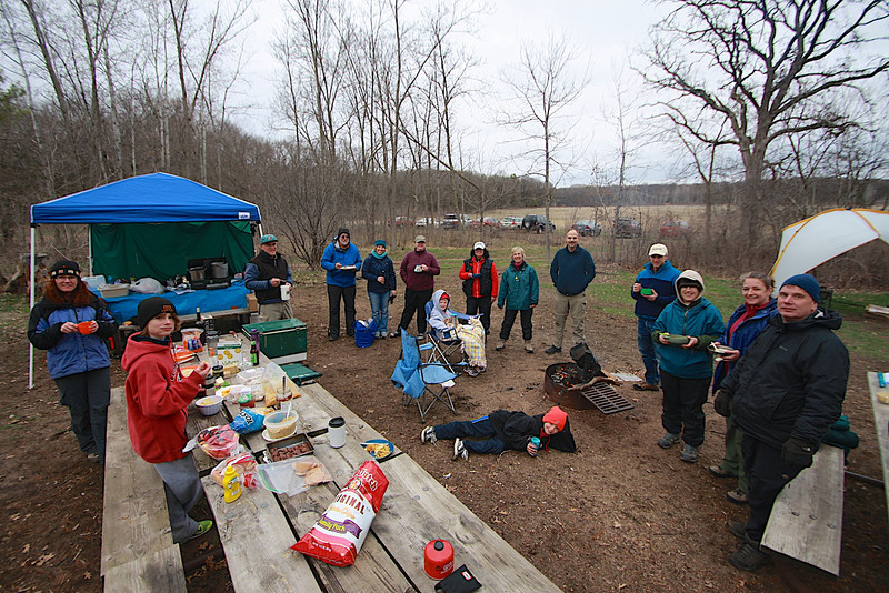 The potluck dinner on Saturday evening in Wild River State Park Minnesota.