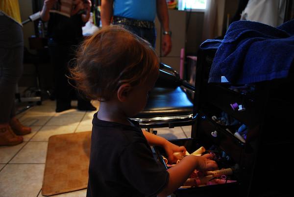 Freddie's first haircut! 29Jul2011