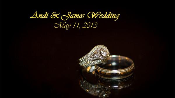 Andrea James Wedding
