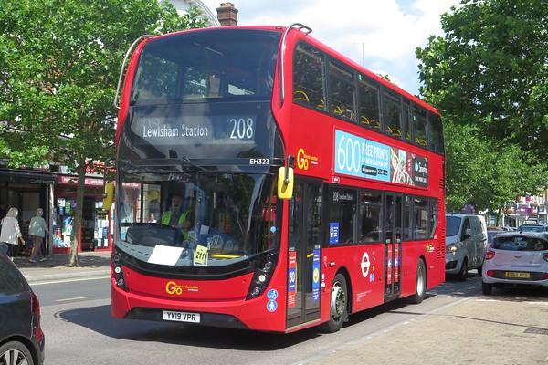 Croydon Buses trams July 2020