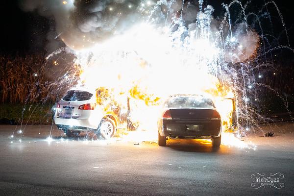 82 & E. Reeceville - MVA w/ Fire