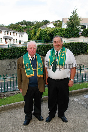 Danny Doyle (chief ranger) and Joe Shields of the Fr Matthew INF Branch Rostrevor who hosted the All Ireland Convention last weekend, 07W32N302