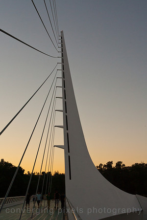 The Sundial Bridge in Redding, Ca  7711