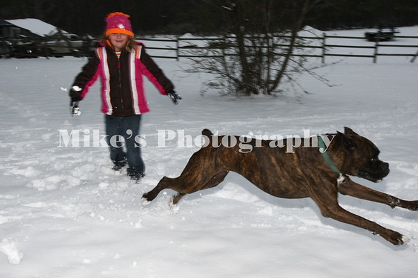 Snow in Pine Bluff 2011