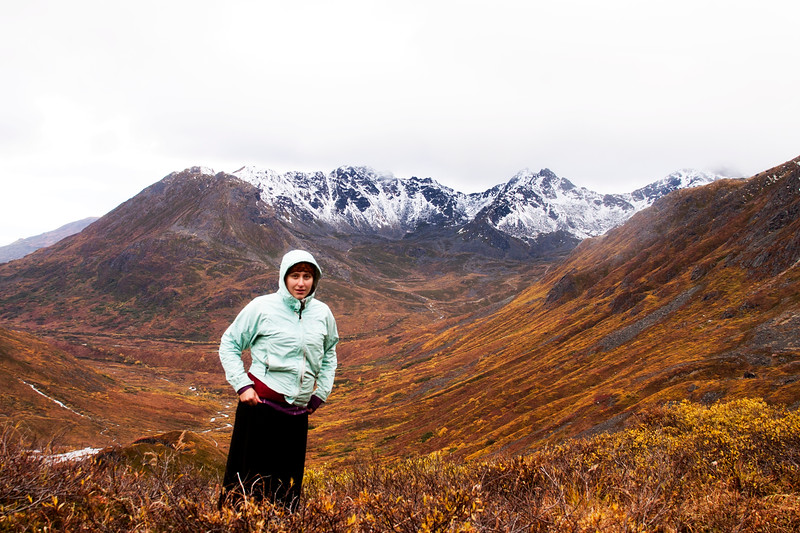September 22, 2012. Day 260.   I got cold. Really, really cold.  Reed Valley, Hatcher Pass, AK