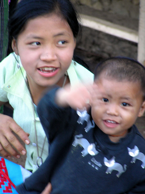 I took this photo at a Village outside Kouang Si in Laos in Decemebr 2005
