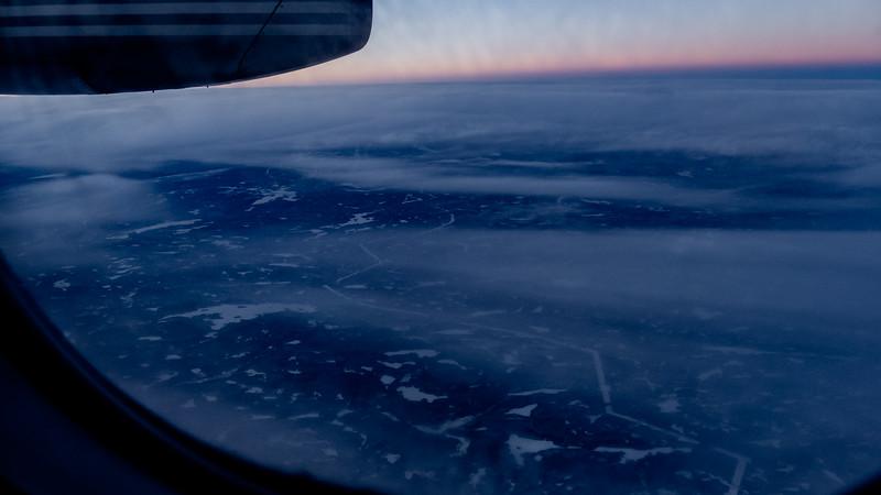 Clouds somewhere over  Quebec