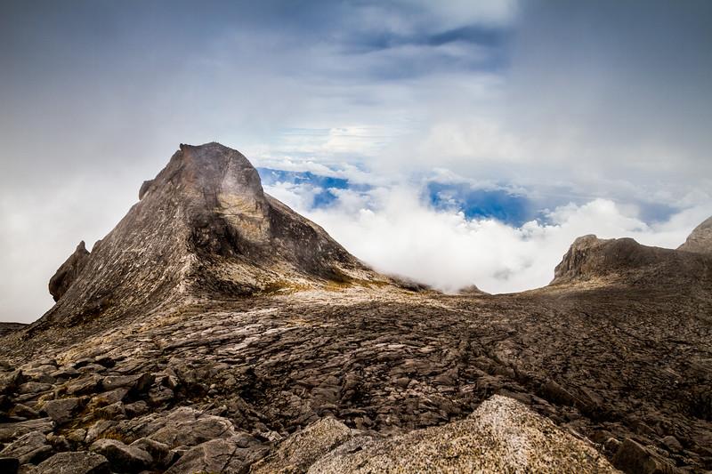 St. John Peak (4091 m). Seen from the summit of Mount Kinabalu, Borneo (4095m)